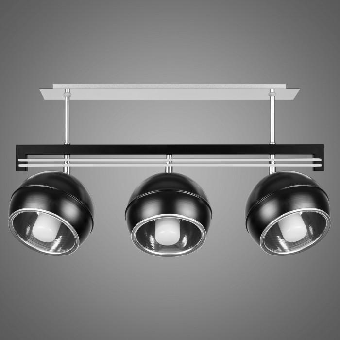 Lustra cu 3 spoturi design modern KULE, negru SG/KU/3/BL KM, Lustre moderne aplicate, Corpuri de iluminat, lustre, aplice, veioze, lampadare, plafoniere. Mobilier si decoratiuni, oglinzi, scaune, fotolii. Oferte speciale iluminat interior si exterior. Livram in toata tara.  a