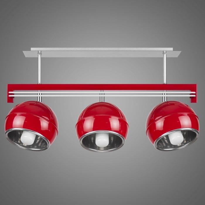 Lustra cu 3 spoturi design modern KULE, rosu SG/KU/3/RD KM, Lustre moderne aplicate, Corpuri de iluminat, lustre, aplice, veioze, lampadare, plafoniere. Mobilier si decoratiuni, oglinzi, scaune, fotolii. Oferte speciale iluminat interior si exterior. Livram in toata tara.  a