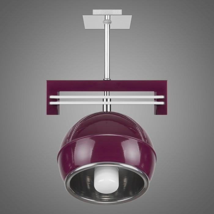 Lustra cu spot design modern KULE, violet SG/KU/1/VL KM, Lustre moderne aplicate, Corpuri de iluminat, lustre, aplice, veioze, lampadare, plafoniere. Mobilier si decoratiuni, oglinzi, scaune, fotolii. Oferte speciale iluminat interior si exterior. Livram in toata tara.  a