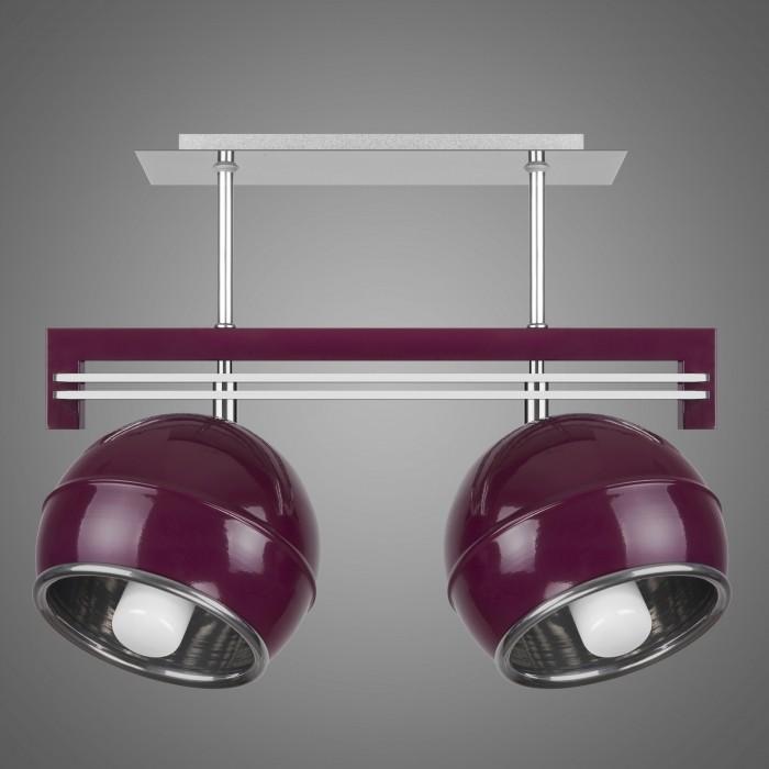 Lustra cu 2 spoturi design modern KULE, violet SG/KU/2/VL KM, Lustre moderne aplicate, Corpuri de iluminat, lustre, aplice, veioze, lampadare, plafoniere. Mobilier si decoratiuni, oglinzi, scaune, fotolii. Oferte speciale iluminat interior si exterior. Livram in toata tara.  a