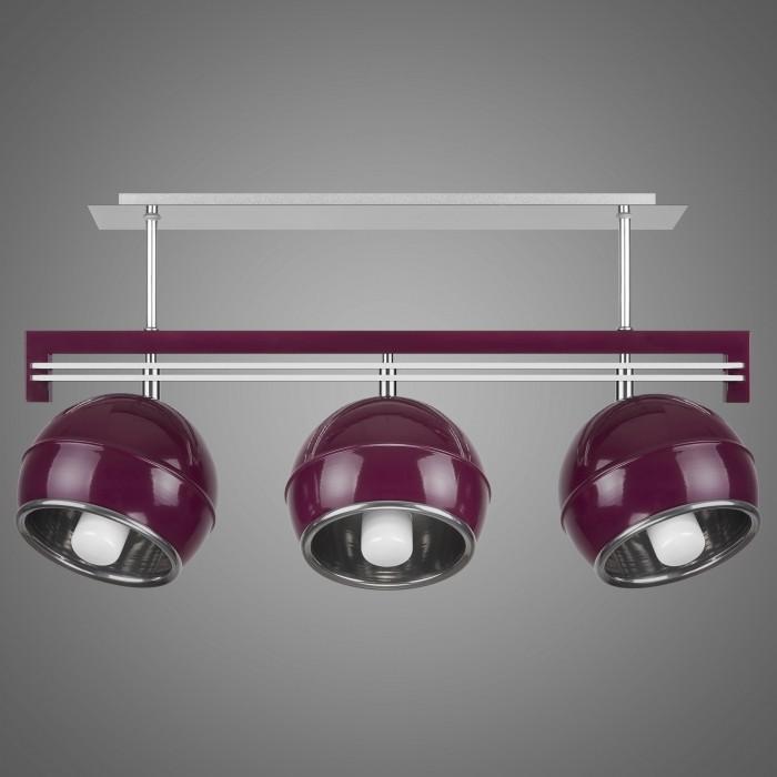 Lustra cu 3 spoturi design modern KULE, violet SG/KU/3/VL KM, Lustre moderne aplicate, Corpuri de iluminat, lustre, aplice, veioze, lampadare, plafoniere. Mobilier si decoratiuni, oglinzi, scaune, fotolii. Oferte speciale iluminat interior si exterior. Livram in toata tara.  a