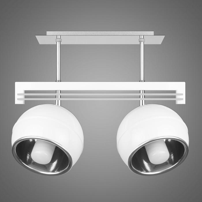 Lustra cu 2 spoturi design modern KULE, alb SG/KU/2/WH KM, Lustre moderne aplicate, Corpuri de iluminat, lustre, aplice, veioze, lampadare, plafoniere. Mobilier si decoratiuni, oglinzi, scaune, fotolii. Oferte speciale iluminat interior si exterior. Livram in toata tara.  a