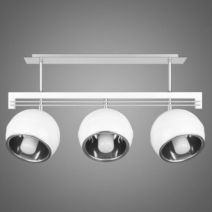 Lustra cu 3 spoturi design modern KULE, alb SG/KU/3/WH KM, Lustre moderne aplicate, Corpuri de iluminat, lustre, aplice, veioze, lampadare, plafoniere. Mobilier si decoratiuni, oglinzi, scaune, fotolii. Oferte speciale iluminat interior si exterior. Livram in toata tara.  a