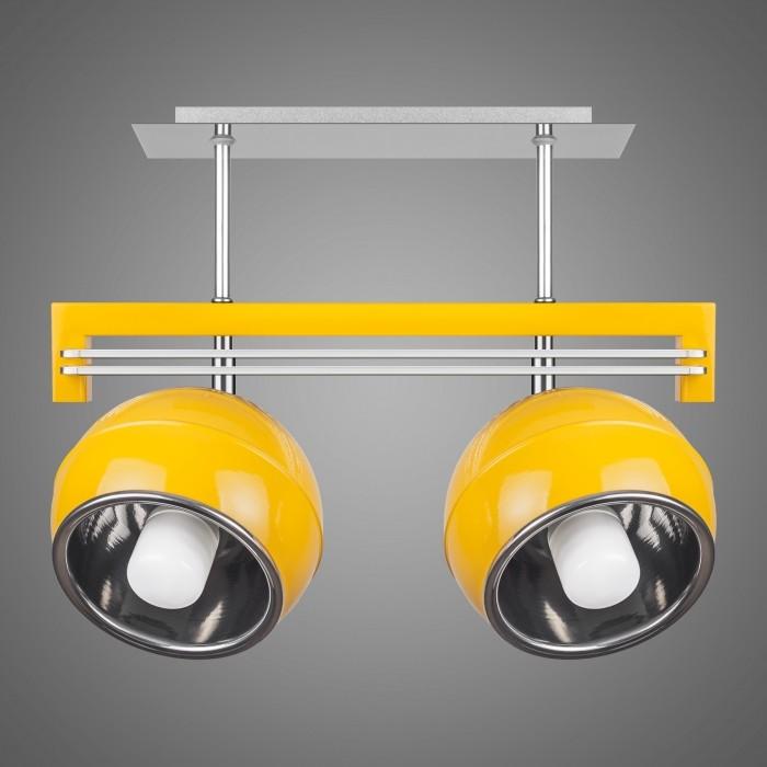 Lustra cu 2 spoturi design modern KULE, galben SG/KU/2/YL KM, Lustre moderne aplicate, Corpuri de iluminat, lustre, aplice, veioze, lampadare, plafoniere. Mobilier si decoratiuni, oglinzi, scaune, fotolii. Oferte speciale iluminat interior si exterior. Livram in toata tara.  a