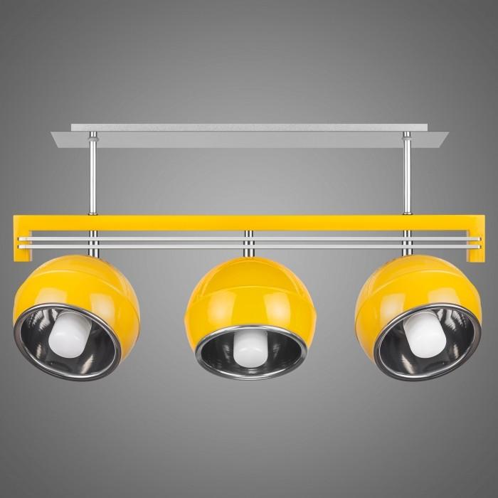 Lustra cu 3 spoturi design modern KULE, galben SG/KU/3/YL KM, Lustre moderne aplicate, Corpuri de iluminat, lustre, aplice, veioze, lampadare, plafoniere. Mobilier si decoratiuni, oglinzi, scaune, fotolii. Oferte speciale iluminat interior si exterior. Livram in toata tara.  a