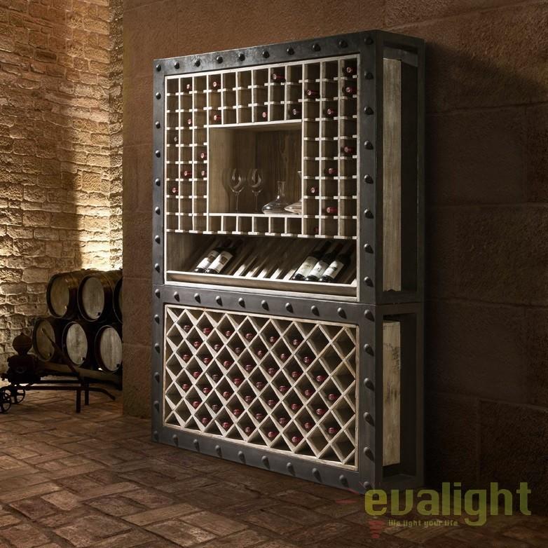 Dulap cu rafturi pentru sticle de vin design deosebit Bobal SV-387485, Dulapuri - Comode, Corpuri de iluminat, lustre, aplice, veioze, lampadare, plafoniere. Mobilier si decoratiuni, oglinzi, scaune, fotolii. Oferte speciale iluminat interior si exterior. Livram in toata tara.  a