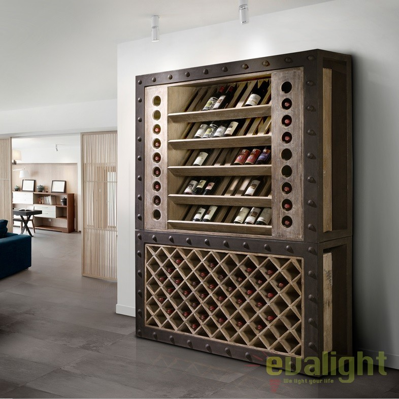 Dulap cu rafturi pentru sticle de vin design deosebit Merlot SV-387218, Dulapuri - Comode, Corpuri de iluminat, lustre, aplice, veioze, lampadare, plafoniere. Mobilier si decoratiuni, oglinzi, scaune, fotolii. Oferte speciale iluminat interior si exterior. Livram in toata tara.  a