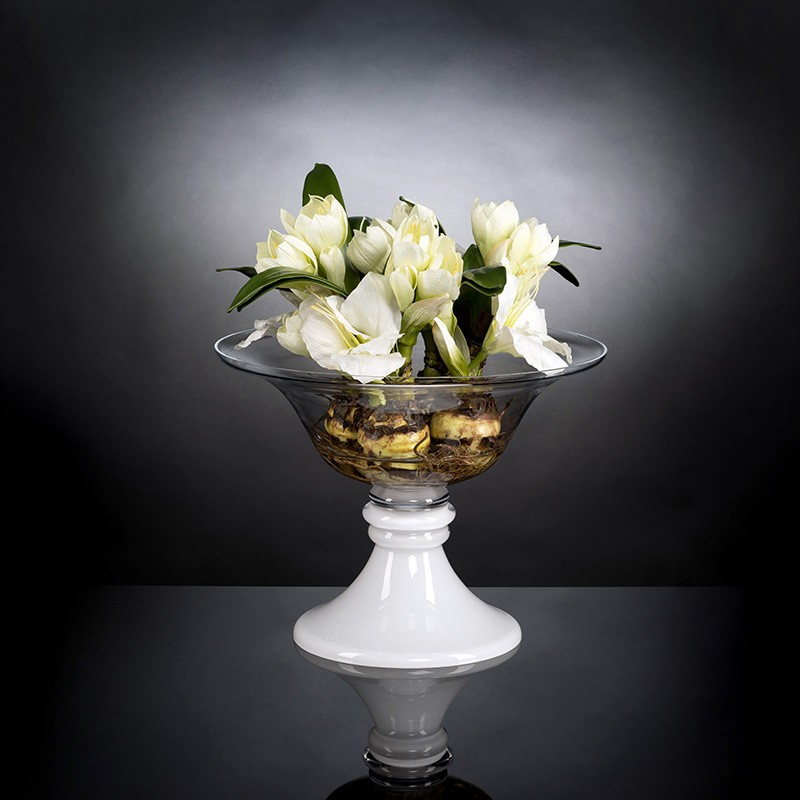 Aranjament floral elegant BOWL KATIA 1141489.95, Aranjamente florale LUX, Corpuri de iluminat, lustre, aplice, veioze, lampadare, plafoniere. Mobilier si decoratiuni, oglinzi, scaune, fotolii. Oferte speciale iluminat interior si exterior. Livram in toata tara.  a