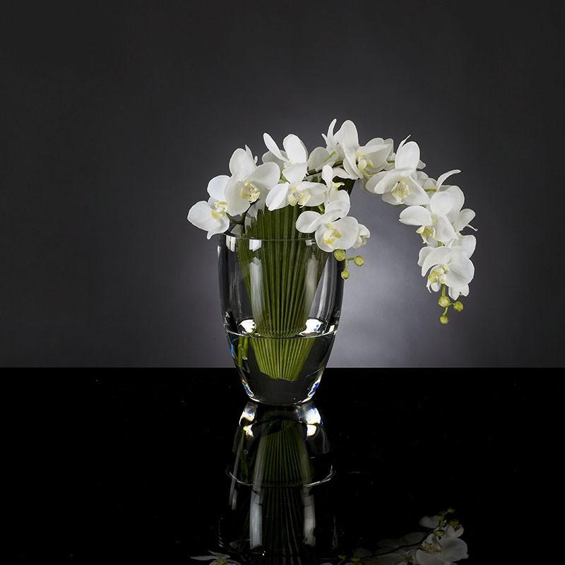 Aranjament floral mic decor festiv design LUX, PALMA PHALENOPSIS 1140781.95, Aranjamente florale LUX, Corpuri de iluminat, lustre, aplice, veioze, lampadare, plafoniere. Mobilier si decoratiuni, oglinzi, scaune, fotolii. Oferte speciale iluminat interior si exterior. Livram in toata tara.  a