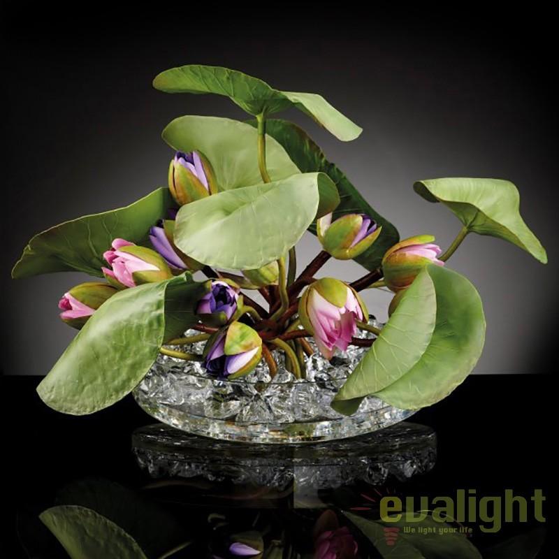 Aranjament floral elegant design LUX, CROWN LOTUS 1141171.41, Aranjamente florale LUX, Corpuri de iluminat, lustre, aplice, veioze, lampadare, plafoniere. Mobilier si decoratiuni, oglinzi, scaune, fotolii. Oferte speciale iluminat interior si exterior. Livram in toata tara.  a