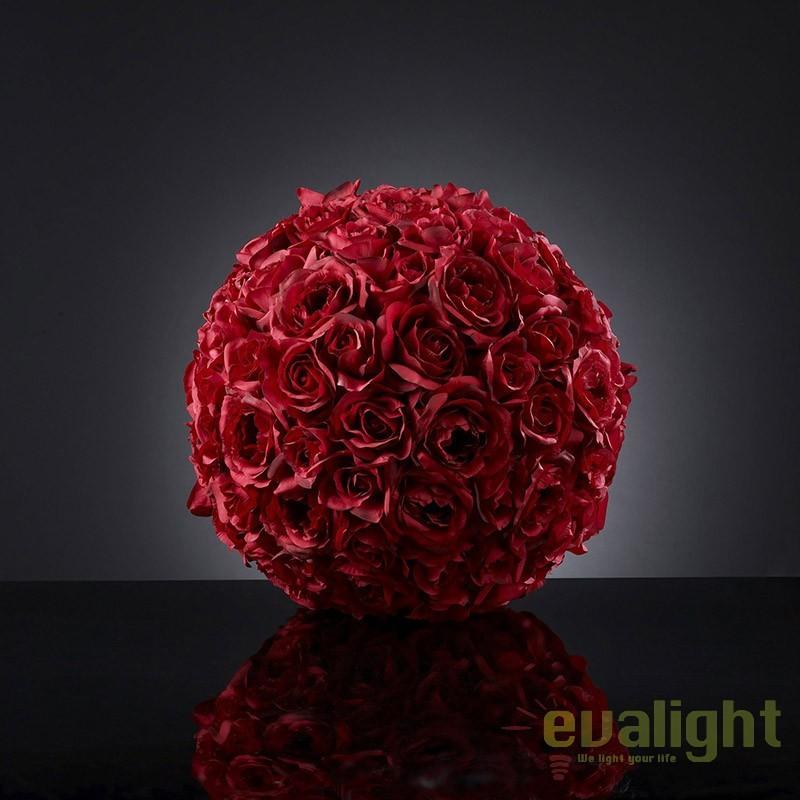 Aranjament floral elegant in forma de sfera, SPHERE ROSES BIG 1141064.30, Aranjamente florale LUX, Corpuri de iluminat, lustre, aplice, veioze, lampadare, plafoniere. Mobilier si decoratiuni, oglinzi, scaune, fotolii. Oferte speciale iluminat interior si exterior. Livram in toata tara.  a