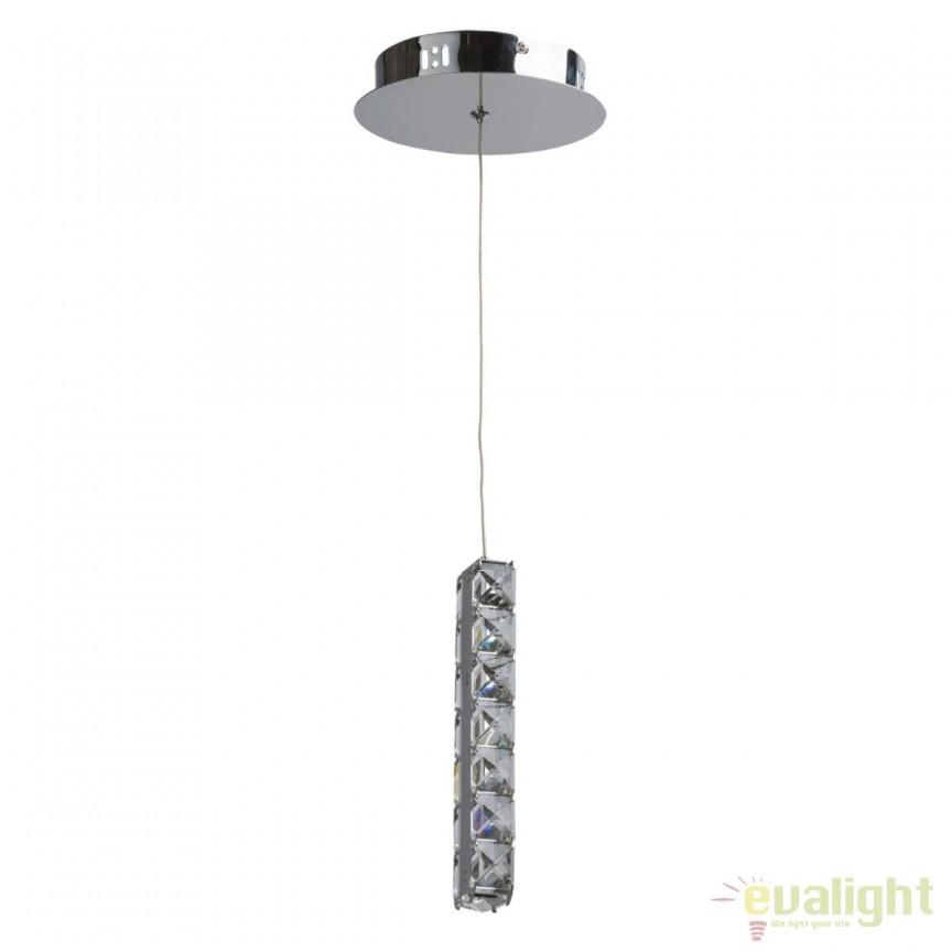 Pendul LED modern Cristal 498011401 MW, Lustre LED, Pendule LED, Corpuri de iluminat, lustre, aplice, veioze, lampadare, plafoniere. Mobilier si decoratiuni, oglinzi, scaune, fotolii. Oferte speciale iluminat interior si exterior. Livram in toata tara.  a