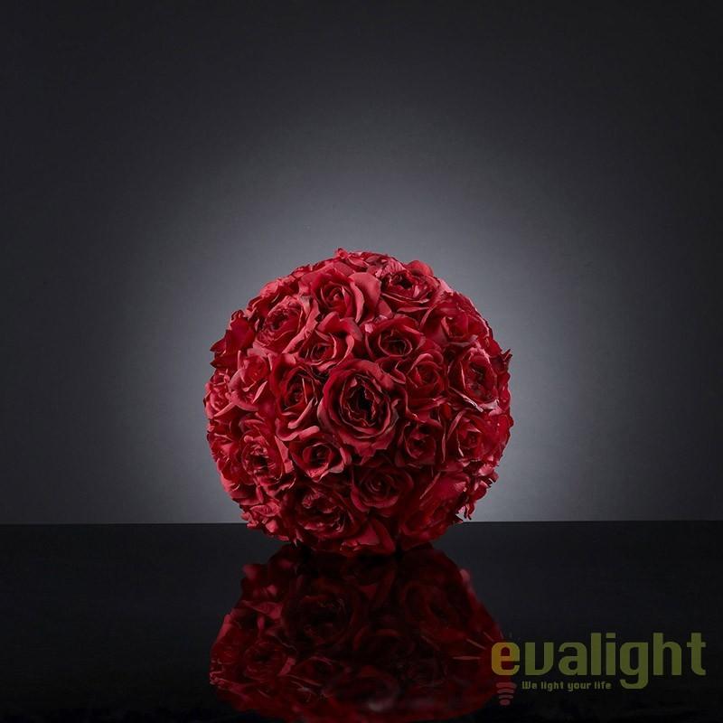 Aranjament floral elegant in forma de sfera, SPHERE ROSES SMALL 1141063.30, Aranjamente florale LUX, Corpuri de iluminat, lustre, aplice, veioze, lampadare, plafoniere. Mobilier si decoratiuni, oglinzi, scaune, fotolii. Oferte speciale iluminat interior si exterior. Livram in toata tara.  a