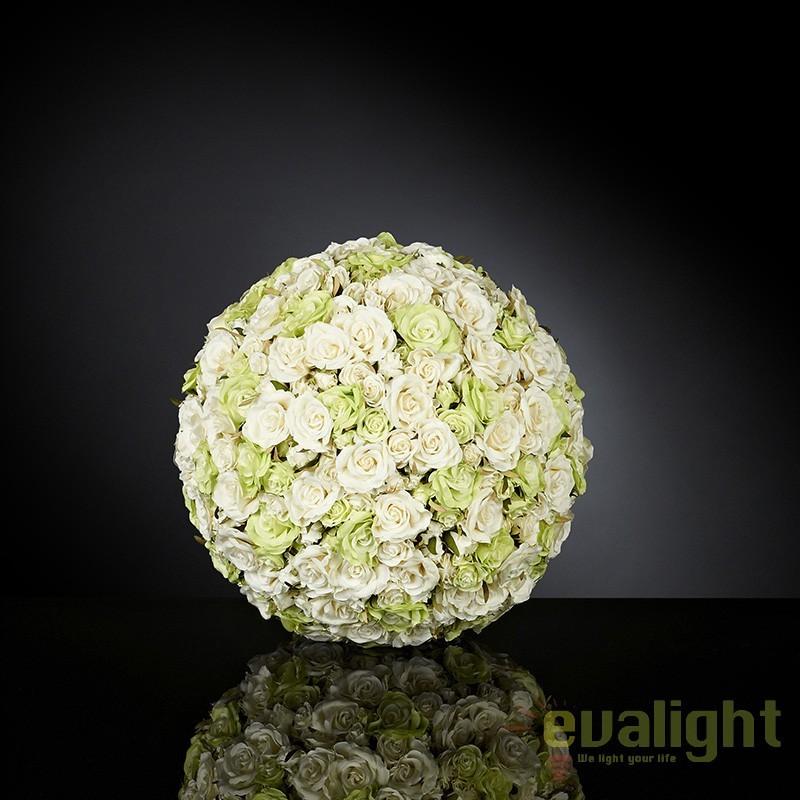 Aranjament floral elegant in forma de sfera, SPHERE SMALL ROSES MIX BIG 1141288.61, Aranjamente florale LUX, Corpuri de iluminat, lustre, aplice, veioze, lampadare, plafoniere. Mobilier si decoratiuni, oglinzi, scaune, fotolii. Oferte speciale iluminat interior si exterior. Livram in toata tara.  a