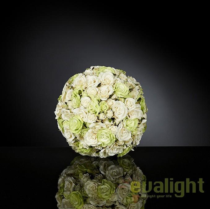 Aranjament floral elegant in forma de sfera, SMALL ROSES MIX SMALL 1141289.61, Aranjamente florale LUX, Corpuri de iluminat, lustre, aplice, veioze, lampadare, plafoniere. Mobilier si decoratiuni, oglinzi, scaune, fotolii. Oferte speciale iluminat interior si exterior. Livram in toata tara.  a