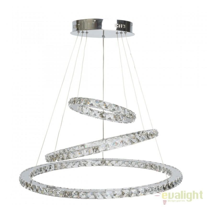 Lustra LED moderna diametru 70cm Cristal 498011903 MW, Lustre LED, Pendule LED, Corpuri de iluminat, lustre, aplice, veioze, lampadare, plafoniere. Mobilier si decoratiuni, oglinzi, scaune, fotolii. Oferte speciale iluminat interior si exterior. Livram in toata tara.  a