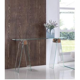 Consola/ Birou design modern din sticla si lemn, ALHAMBRA 120x40cm 196.COALH SDM, PROMOTII,  a