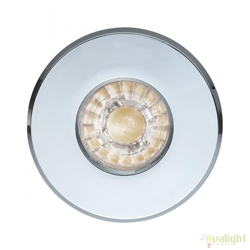 Spot LED incastrabil pentru baie IP44 IGOA crom 94975 EL, Plafoniere cu protectie pentru baie, Corpuri de iluminat, lustre, aplice, veioze, lampadare, plafoniere. Mobilier si decoratiuni, oglinzi, scaune, fotolii. Oferte speciale iluminat interior si exterior. Livram in toata tara.  a