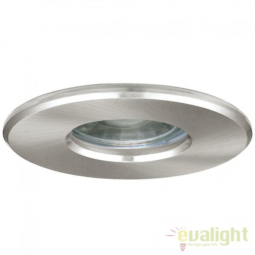 Spot LED incastrabil pentru baie IP44 IGOA nickel 94976 EL, Plafoniere cu protectie pentru baie, Corpuri de iluminat, lustre, aplice, veioze, lampadare, plafoniere. Mobilier si decoratiuni, oglinzi, scaune, fotolii. Oferte speciale iluminat interior si exterior. Livram in toata tara.  a