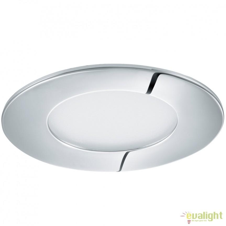 Spot LED incastrabil pentru baie IP44 FUEVA 1 crom 3000K 96053 EL, Plafoniere cu protectie pentru baie, Corpuri de iluminat, lustre, aplice, veioze, lampadare, plafoniere. Mobilier si decoratiuni, oglinzi, scaune, fotolii. Oferte speciale iluminat interior si exterior. Livram in toata tara.  a