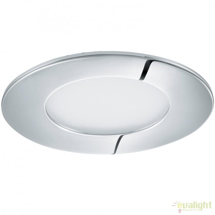 Spot LED incastrabil pentru baie IP44 FUEVA 1 crom 4000K 96054 EL, Plafoniere cu protectie pentru baie, Corpuri de iluminat, lustre, aplice, veioze, lampadare, plafoniere. Mobilier si decoratiuni, oglinzi, scaune, fotolii. Oferte speciale iluminat interior si exterior. Livram in toata tara.  a