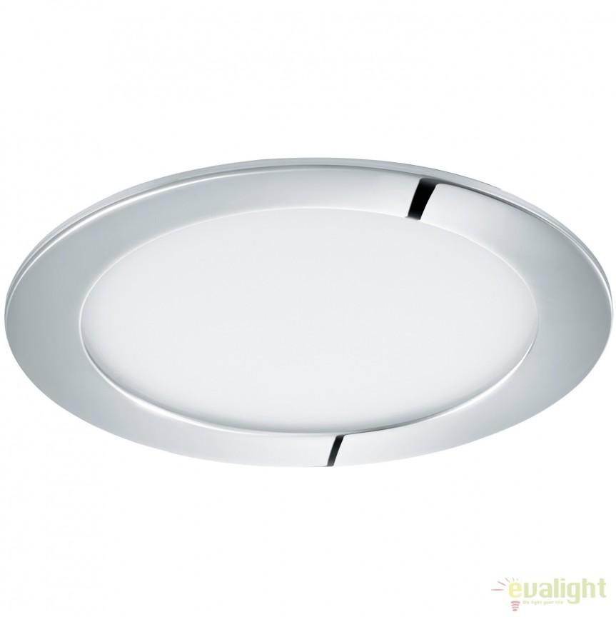 Spot LED incastrabil pentru baie IP44 FUEVA 1 crom 3000K 96055 EL, Plafoniere cu protectie pentru baie, Corpuri de iluminat, lustre, aplice, veioze, lampadare, plafoniere. Mobilier si decoratiuni, oglinzi, scaune, fotolii. Oferte speciale iluminat interior si exterior. Livram in toata tara.  a