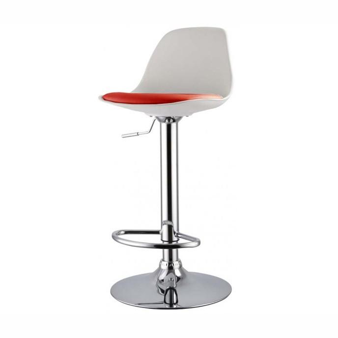 Set de 2 scaune de bar design modern TOW-RG-BR, alb/ rosu 431.TTOWRGBR SDM, Scaune de bar, Corpuri de iluminat, lustre, aplice, veioze, lampadare, plafoniere. Mobilier si decoratiuni, oglinzi, scaune, fotolii. Oferte speciale iluminat interior si exterior. Livram in toata tara.  a