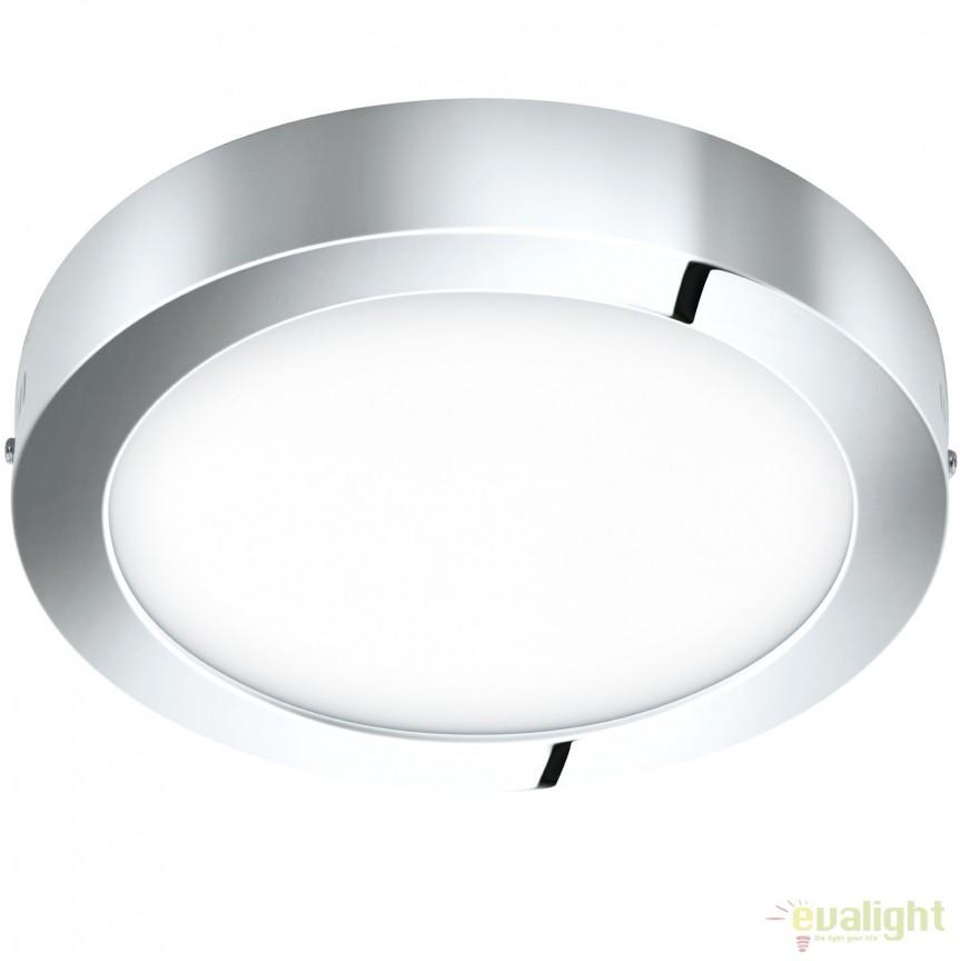 Plafoniera LED baie diam.30cm IP44 FUEVA 1 crom 96058 EL, Plafoniere cu protectie pentru baie, Corpuri de iluminat, lustre, aplice, veioze, lampadare, plafoniere. Mobilier si decoratiuni, oglinzi, scaune, fotolii. Oferte speciale iluminat interior si exterior. Livram in toata tara.  a