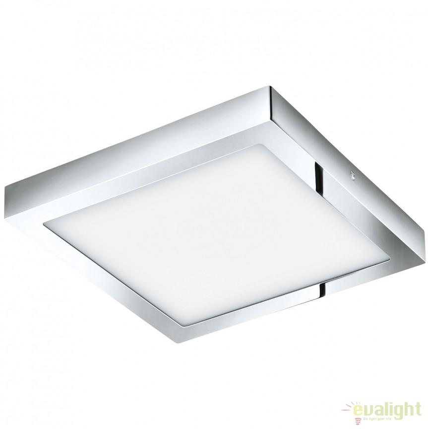 Plafoniera LED baie 30x30cm IP44 FUEVA 1 crom 96059 EL, Plafoniere cu protectie pentru baie, Corpuri de iluminat, lustre, aplice, veioze, lampadare, plafoniere. Mobilier si decoratiuni, oglinzi, scaune, fotolii. Oferte speciale iluminat interior si exterior. Livram in toata tara.  a