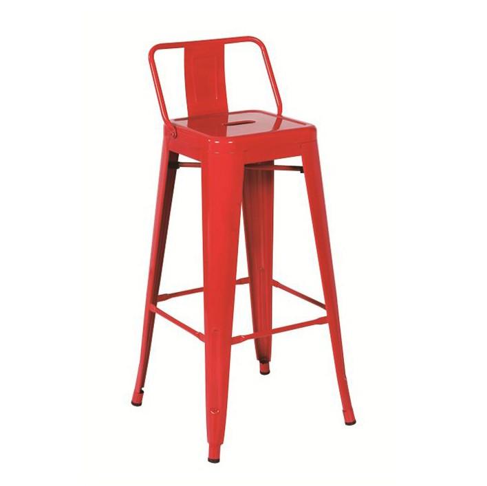 Set de 4 scaune de bar, design industrial TOL-MAR-RO rosu 436.TTOLMARO SDM, Scaune de bar, Corpuri de iluminat, lustre, aplice, veioze, lampadare, plafoniere. Mobilier si decoratiuni, oglinzi, scaune, fotolii. Oferte speciale iluminat interior si exterior. Livram in toata tara.  a