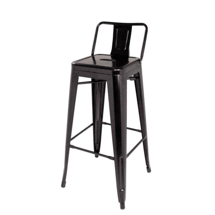 Set de 4 scaune de bar, design industrial TOL-MAR-NE negru 436.TTOLMANE SDM, Scaune de bar, Corpuri de iluminat, lustre, aplice, veioze, lampadare, plafoniere. Mobilier si decoratiuni, oglinzi, scaune, fotolii. Oferte speciale iluminat interior si exterior. Livram in toata tara.  a