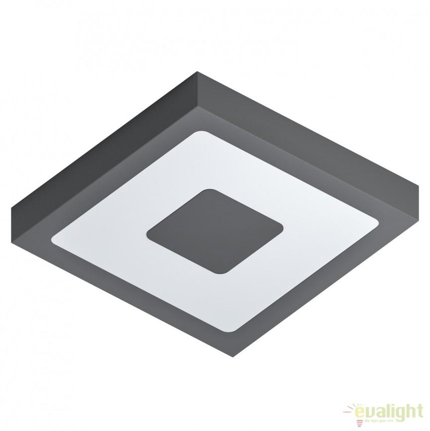 Plafoniera LED de exterior moderna IP44 IPHIAS antracit 96489 EL, Plafoniere de exterior, Corpuri de iluminat, lustre, aplice, veioze, lampadare, plafoniere. Mobilier si decoratiuni, oglinzi, scaune, fotolii. Oferte speciale iluminat interior si exterior. Livram in toata tara.  a