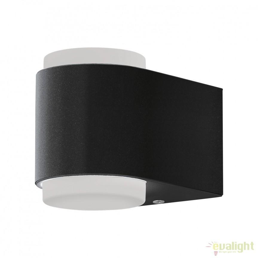 Aplica de perete LED exterior moderna IP44 BRIONES antracit 95078 EL, Aplice de exterior moderne , Corpuri de iluminat, lustre, aplice, veioze, lampadare, plafoniere. Mobilier si decoratiuni, oglinzi, scaune, fotolii. Oferte speciale iluminat interior si exterior. Livram in toata tara.  a