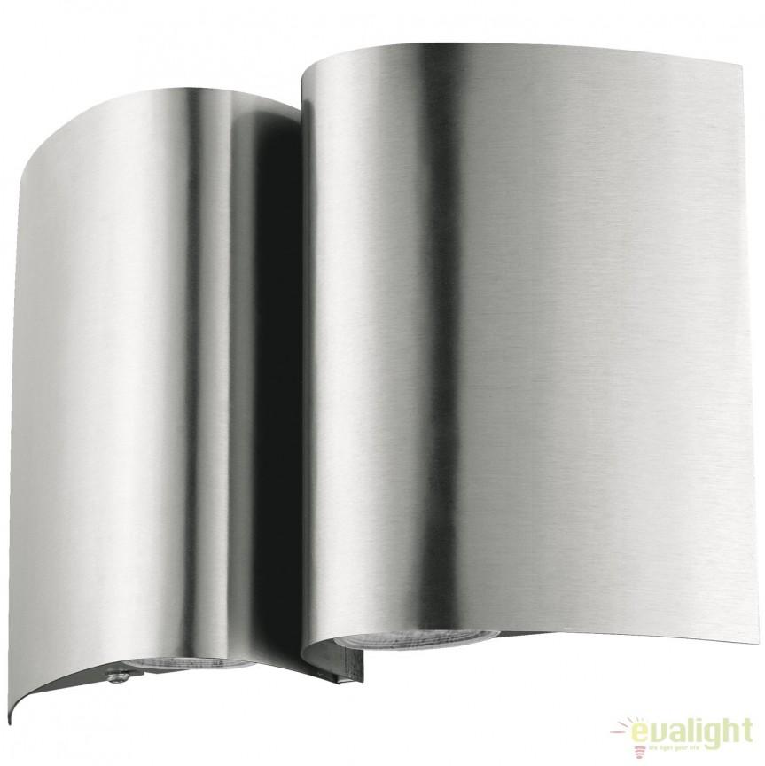 Aplica de perete LED exterior moderna IP44 SUESA otel 94847 EL, Aplice de exterior moderne , Corpuri de iluminat, lustre, aplice, veioze, lampadare, plafoniere. Mobilier si decoratiuni, oglinzi, scaune, fotolii. Oferte speciale iluminat interior si exterior. Livram in toata tara.  a