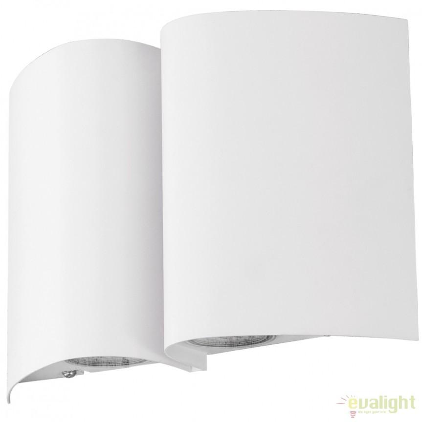 Aplica de perete LED exterior moderna IP44 SUESA alba 94846 EL, Aplice de exterior moderne , Corpuri de iluminat, lustre, aplice, veioze, lampadare, plafoniere. Mobilier si decoratiuni, oglinzi, scaune, fotolii. Oferte speciale iluminat interior si exterior. Livram in toata tara.  a