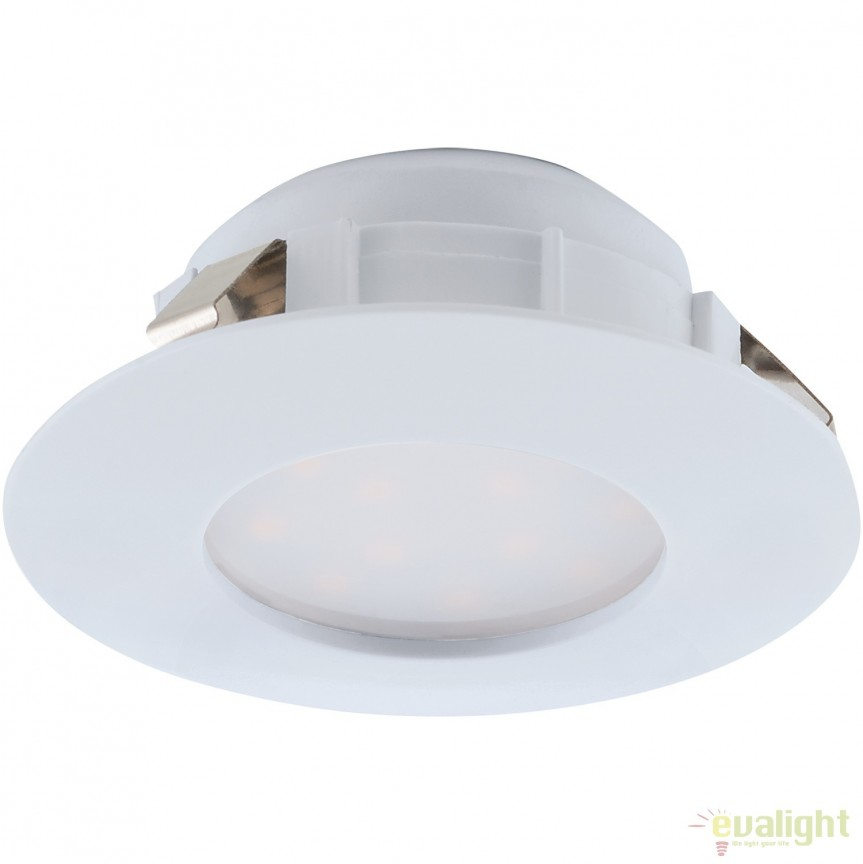 Spot LED incastrabil PINEDA alb 95804 EL, Spoturi LED incastrate, aplicate, Corpuri de iluminat, lustre, aplice, veioze, lampadare, plafoniere. Mobilier si decoratiuni, oglinzi, scaune, fotolii. Oferte speciale iluminat interior si exterior. Livram in toata tara.  a