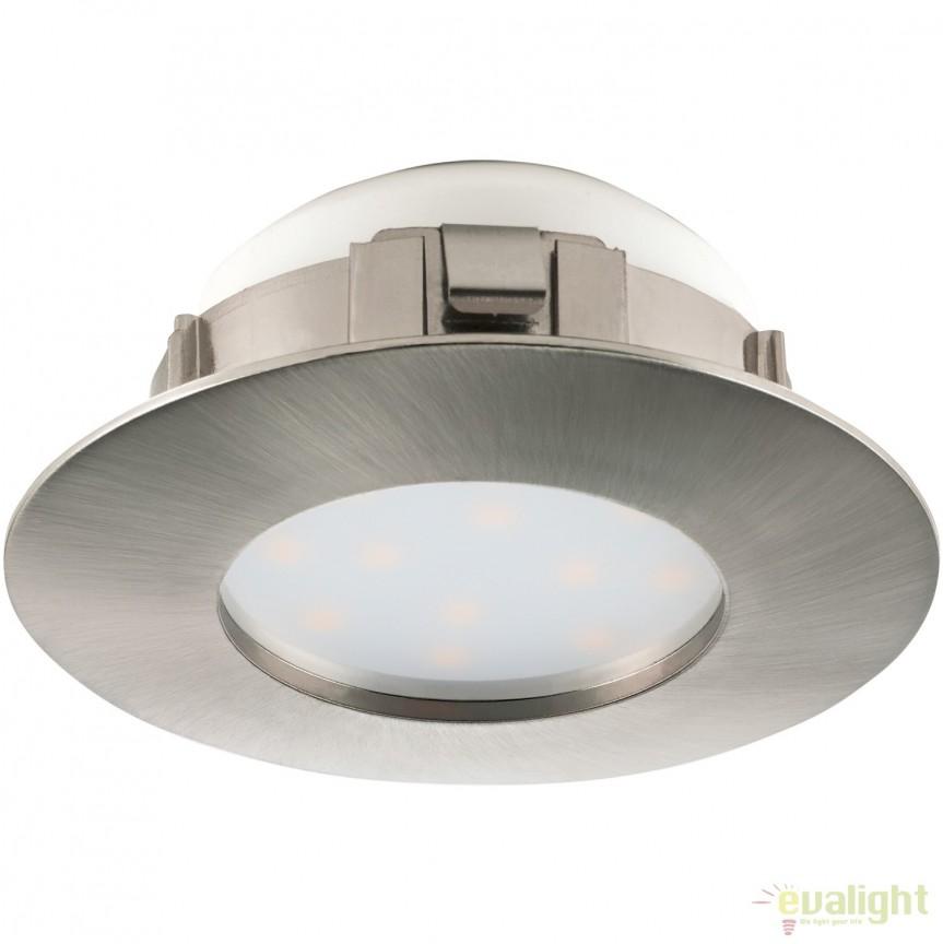 Spot LED incastrabil PINEDA nickel 95806 EL, Spoturi LED incastrate, aplicate, Corpuri de iluminat, lustre, aplice, veioze, lampadare, plafoniere. Mobilier si decoratiuni, oglinzi, scaune, fotolii. Oferte speciale iluminat interior si exterior. Livram in toata tara.  a