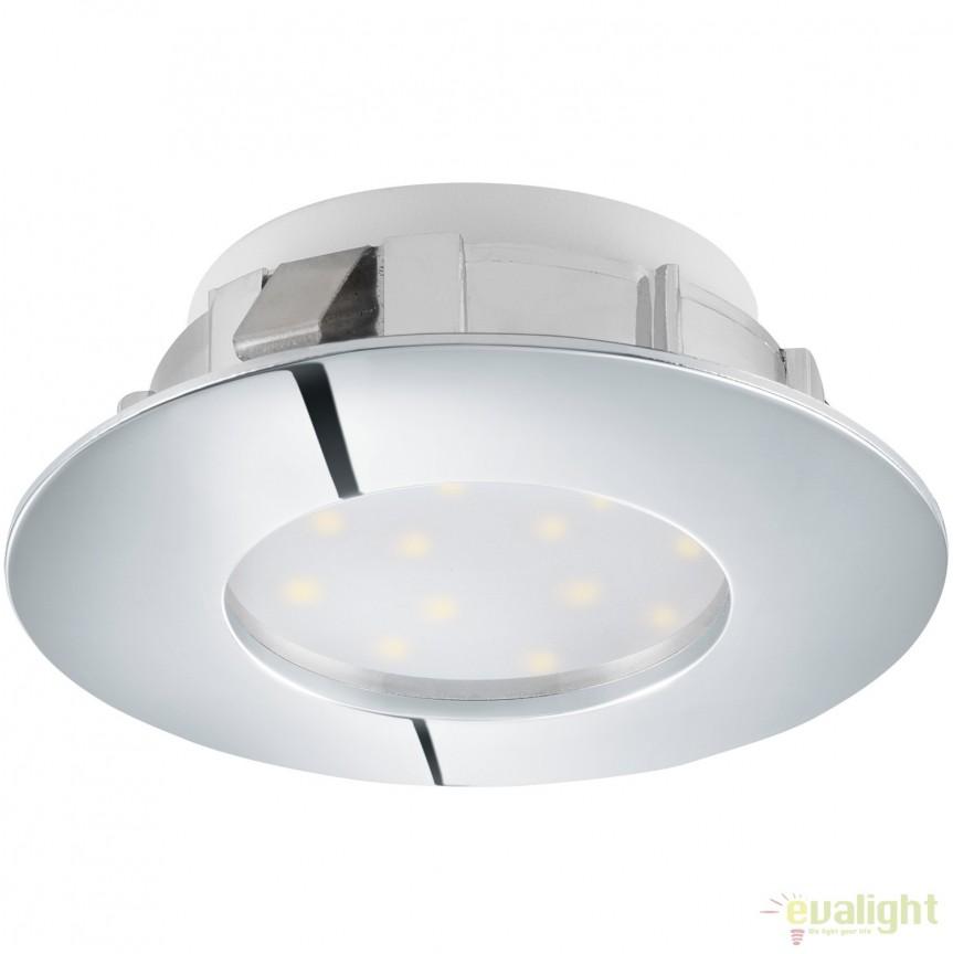Spot LED incastrabil PINEDA crom 95805 EL, Spoturi LED incastrate, aplicate, Corpuri de iluminat, lustre, aplice, veioze, lampadare, plafoniere. Mobilier si decoratiuni, oglinzi, scaune, fotolii. Oferte speciale iluminat interior si exterior. Livram in toata tara.  a