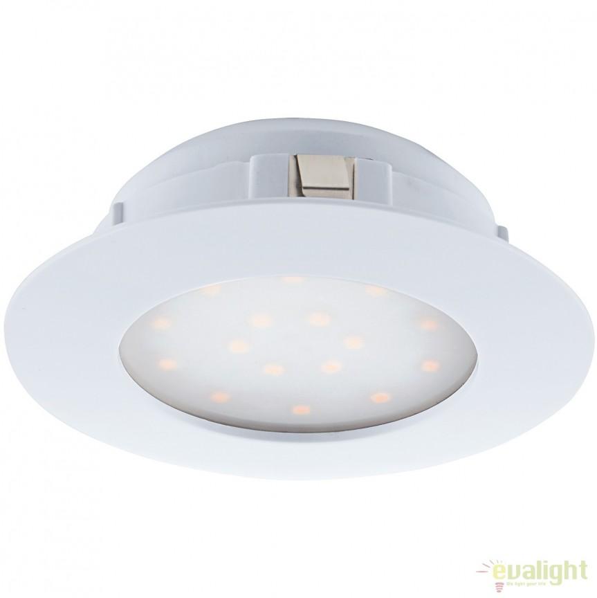 Spot LED incastrabil PINEDA alb 95867 EL, Spoturi LED incastrate, aplicate, Corpuri de iluminat, lustre, aplice, veioze, lampadare, plafoniere. Mobilier si decoratiuni, oglinzi, scaune, fotolii. Oferte speciale iluminat interior si exterior. Livram in toata tara.  a