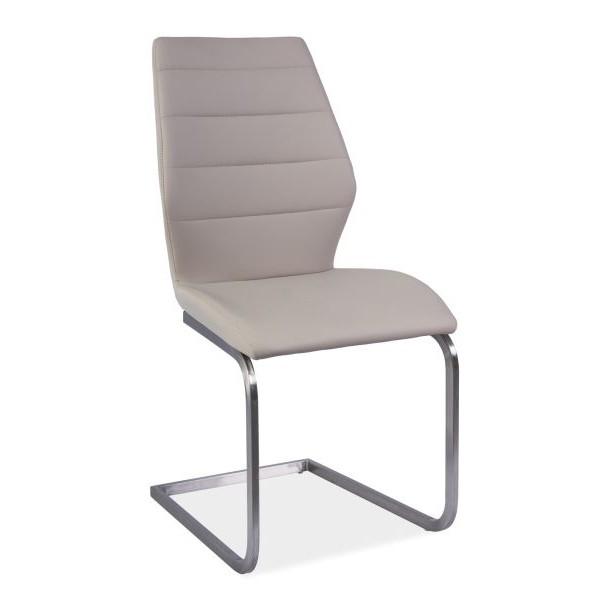 Scaun elegant cu tapiterie din piele sintetica KEVIN CAPPUCCINO KEVINCA SM, Mobila si Decoratiuni,  a