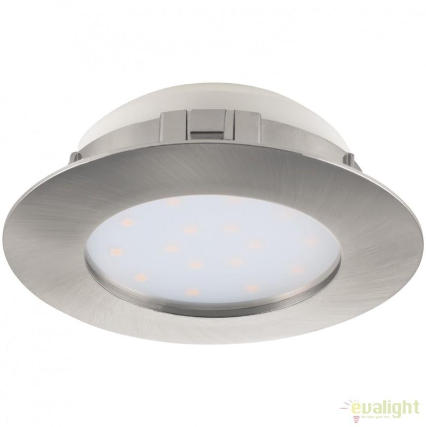 Spot LED incastrabil PINEDA nickel 95869 EL, Spoturi LED incastrate, aplicate, Corpuri de iluminat, lustre, aplice, veioze, lampadare, plafoniere. Mobilier si decoratiuni, oglinzi, scaune, fotolii. Oferte speciale iluminat interior si exterior. Livram in toata tara.  a
