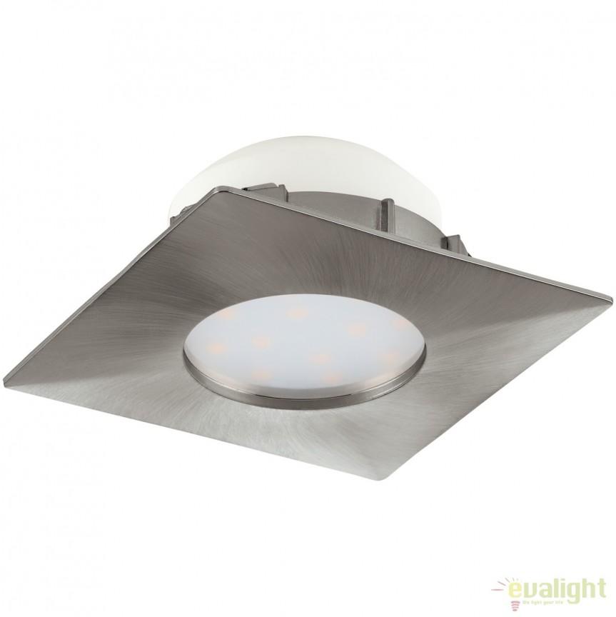 Spot LED incastrabil PINEDA nickel 95799 EL, Spoturi LED incastrate, aplicate, Corpuri de iluminat, lustre, aplice, veioze, lampadare, plafoniere. Mobilier si decoratiuni, oglinzi, scaune, fotolii. Oferte speciale iluminat interior si exterior. Livram in toata tara.  a