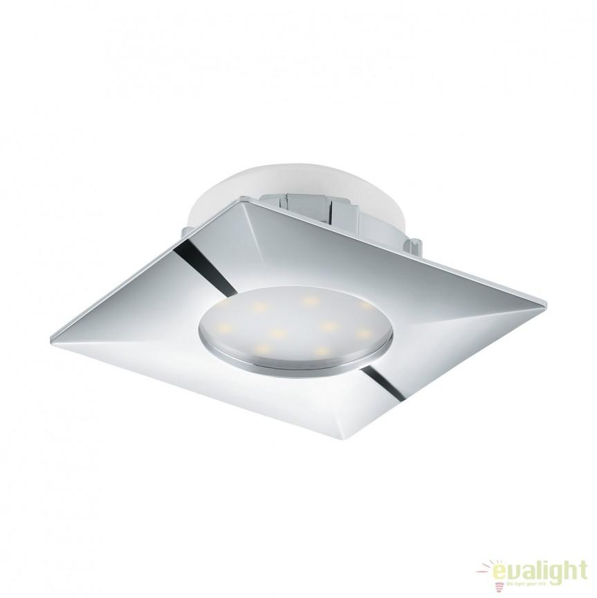 Spot LED incastrabil PINEDA crom 95798 EL, Spoturi LED incastrate, aplicate, Corpuri de iluminat, lustre, aplice, veioze, lampadare, plafoniere. Mobilier si decoratiuni, oglinzi, scaune, fotolii. Oferte speciale iluminat interior si exterior. Livram in toata tara.  a