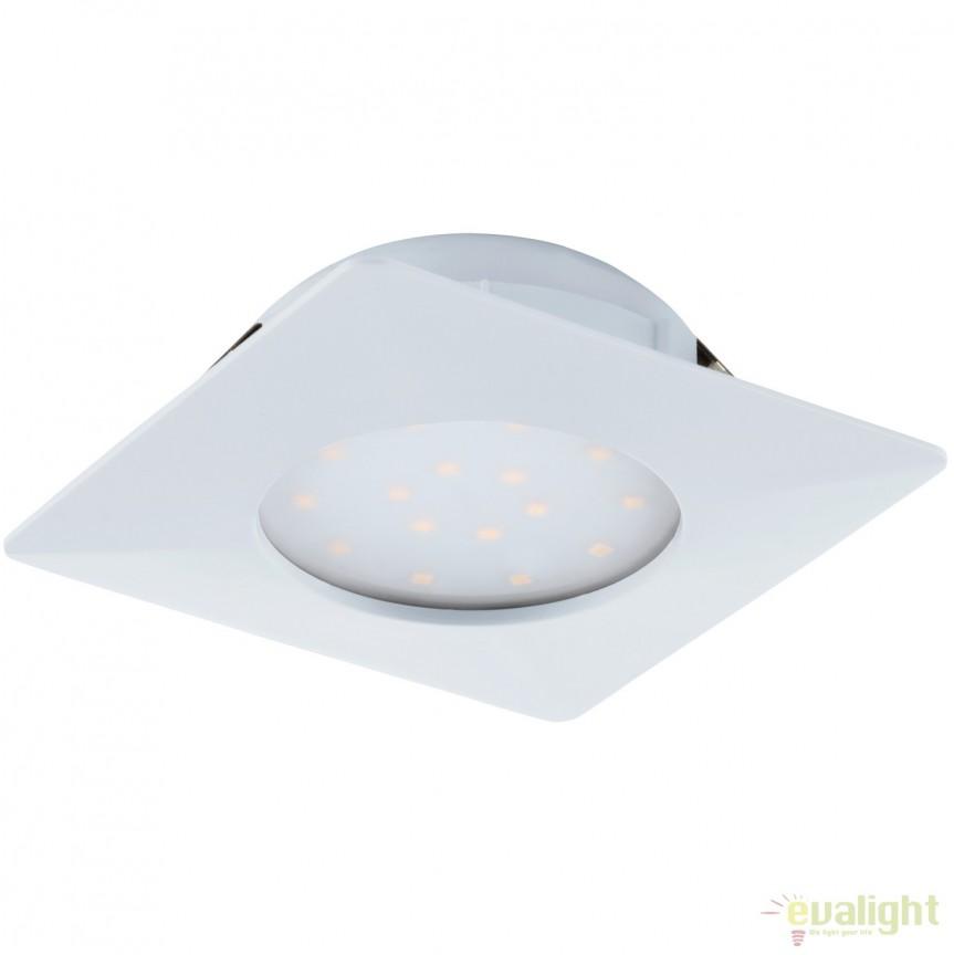 Spot LED incastrabil PINEDA alb 95861 EL, Spoturi LED incastrate, aplicate, Corpuri de iluminat, lustre, aplice, veioze, lampadare, plafoniere. Mobilier si decoratiuni, oglinzi, scaune, fotolii. Oferte speciale iluminat interior si exterior. Livram in toata tara.  a