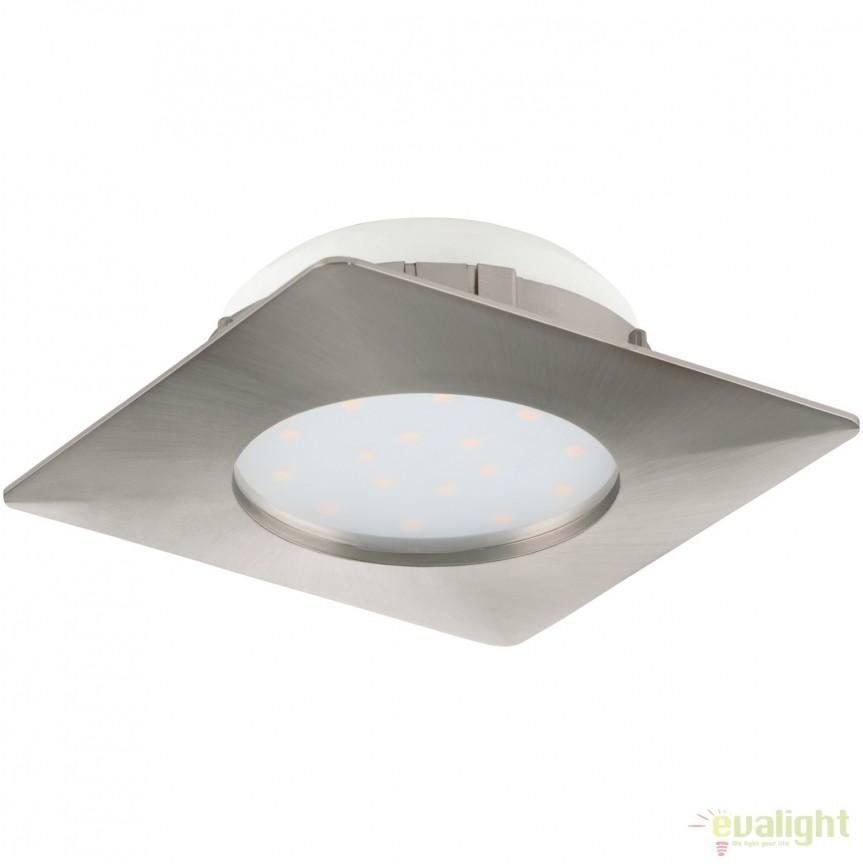 Spot LED incastrabil PINEDA nickel 95863 EL, Spoturi LED incastrate, aplicate, Corpuri de iluminat, lustre, aplice, veioze, lampadare, plafoniere. Mobilier si decoratiuni, oglinzi, scaune, fotolii. Oferte speciale iluminat interior si exterior. Livram in toata tara.  a