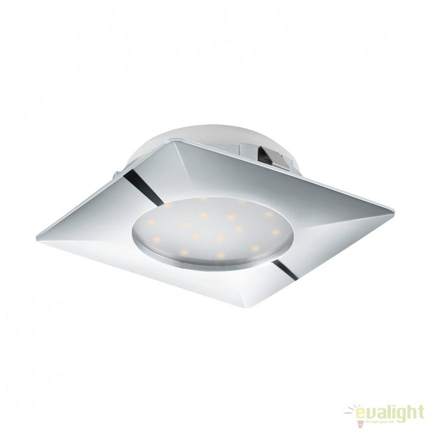 Spot LED incastrabil PINEDA crom 95862 EL, Spoturi LED incastrate, aplicate, Corpuri de iluminat, lustre, aplice, veioze, lampadare, plafoniere. Mobilier si decoratiuni, oglinzi, scaune, fotolii. Oferte speciale iluminat interior si exterior. Livram in toata tara.  a