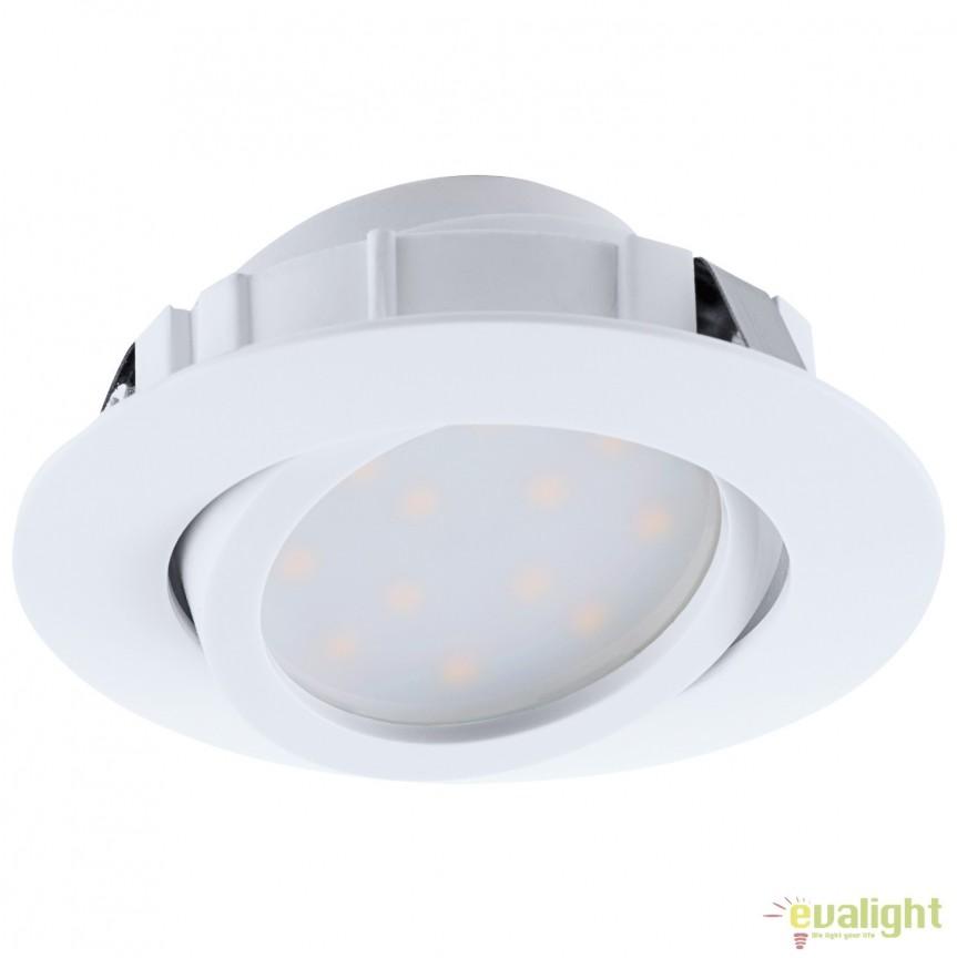 Spot LED incastrabil directionabil PINEDA alb 95847 EL, Spoturi LED incastrate, aplicate, Corpuri de iluminat, lustre, aplice, veioze, lampadare, plafoniere. Mobilier si decoratiuni, oglinzi, scaune, fotolii. Oferte speciale iluminat interior si exterior. Livram in toata tara.  a