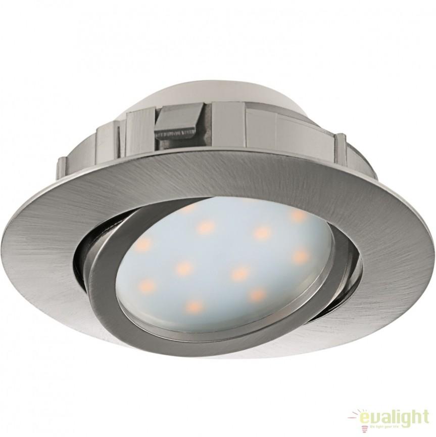 Spot LED incastrabil directionabil PINEDA nickel 95849 EL, Spoturi LED incastrate, aplicate, Corpuri de iluminat, lustre, aplice, veioze, lampadare, plafoniere. Mobilier si decoratiuni, oglinzi, scaune, fotolii. Oferte speciale iluminat interior si exterior. Livram in toata tara.  a