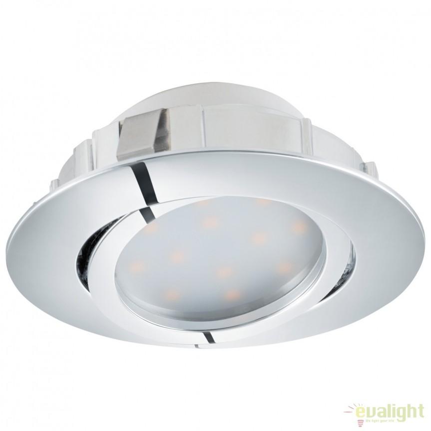 Spot LED incastrabil directionabil PINEDA crom 95848 EL, Spoturi LED incastrate, aplicate, Corpuri de iluminat, lustre, aplice, veioze, lampadare, plafoniere. Mobilier si decoratiuni, oglinzi, scaune, fotolii. Oferte speciale iluminat interior si exterior. Livram in toata tara.  a