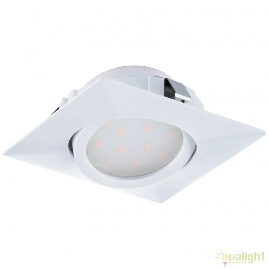 Spot LED incastrabil directionabil PINEDA alb 95841 EL, Spoturi LED incastrate, aplicate, Corpuri de iluminat, lustre, aplice, veioze, lampadare, plafoniere. Mobilier si decoratiuni, oglinzi, scaune, fotolii. Oferte speciale iluminat interior si exterior. Livram in toata tara.  a